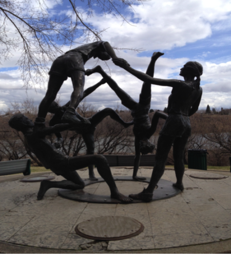 Saskatoon Tribute to Youth Statue