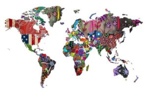 World map - colourful
