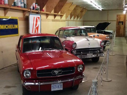 Cars in Collector's Barn