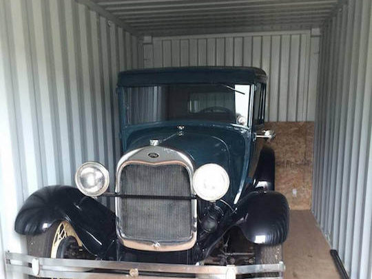 Antique Car in Shed