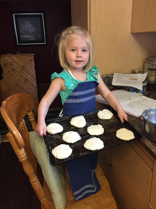 Granddaughter Baking