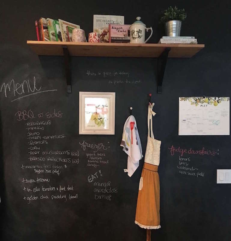 Kitchen Blackboard Wall
