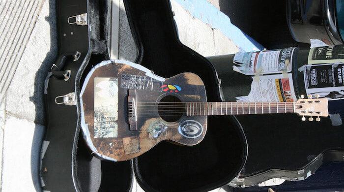 Busker's Guitar flickr Bob Doran