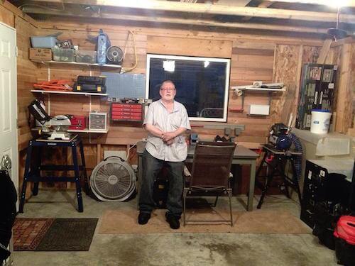 Cliff in Garage