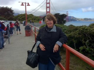 Marilyn at the Golden Gate Bridge