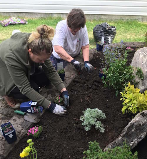 Mother and Daughter Planting