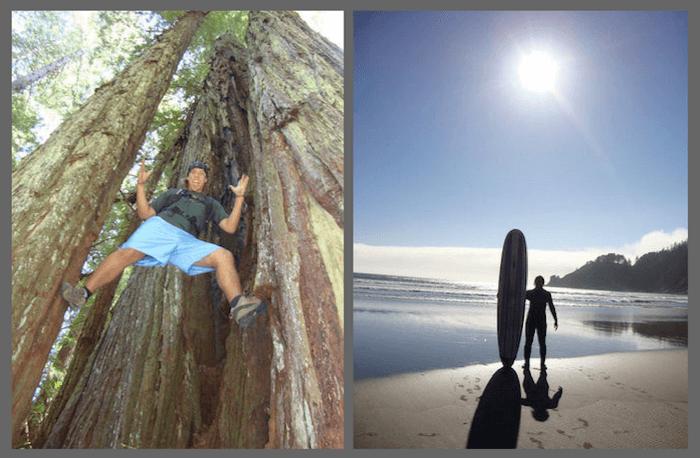 Redwoods & Surfing