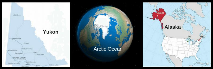 Yukon, Arctic Ocean, and Alaska