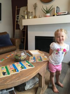 Toddler with Letter Puzzles